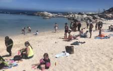 Camps Bay beach on 16 December 2020. Picture: @LirandzuThemba/Twitter.