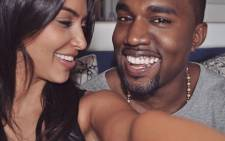 Kim Kardashian West and Kanye West. Picture: @kimkardashian/Twitter