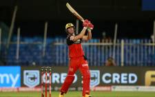 AB de Villiers in action for the Royal Challengers Bangalore in their Indian Premier League match against the Kolkata Knight Riders on 12 October 2020. Picture: @IPL/Twitter