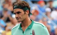 Roger Federer of Switzerland reacts during a final match against David Ferrer of Spain on day 9 of the Western & Southern Open on 17 August 2014. Picture: AFP
