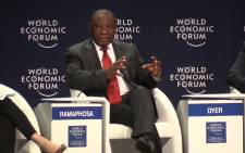 Deputy President Cyril Ramaphosa during a panel discussion at the World Economic Forum on Africa conference in Kigali, Rwanda. Picture: Vumani Mkhize/EWN.