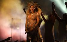 Beyonce performs on stage during the 59th Grammy Awards at Staples Center on 12 February 2017 in Los Angeles, California. Picture: AFP.