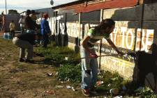 FILE: Residents took to the streets yesterday to deter youths from crime through sports. Picture: Carmel Loggenberg/EWN