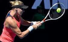 Mirjana Lucic-Baroni hits a return. Picture: @AustralianOpen/Twitter