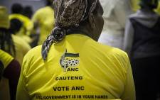 FILE: An ANC supporter sits in the Eldorado community hall.Picture: Reinart Toerien/EWN.