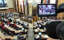 Gauteng Premier David Makhura delivers State of the Province Address at the Gauteng Legislature on 26 February 2018. Picture: Louise McAuliffe /EWN