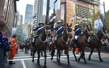 Mounted police take part in the Anzac Day parade in Sydney on 25 April, 2017. Picture: AFP