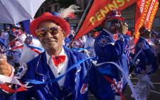 The annual minstrel carnival kicked off as colourful troupes make their way through the Cape Town CBD. Picture: Bertram Malgas/EWN