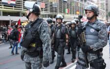 FILE: Brazilian police in Sao Paulo, Brazil on 23 June 2014. Picture: Christa Eybers/EWN.