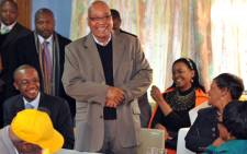 President Jacob Zuma accompanied by Gauteng Premier Nomvula Nomvula Mokonyane, Deputy Minister in the Presidency Obed Bapela and Johannesburg Mayor Parks Tau joined the elderly people of Alexandra in celebrating the 100 centenary of the Itlhokomeleng Association for Aged and Disabled Persons. Picture: GCIS.