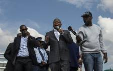Police Minister Fikile Mbalula paid a visit to the communities of Kagiso and Krugersdorp on 23 January 2018, following unrest in the areas. Picture: Ihsaan Haffejee/EWN