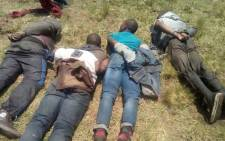 Four illegal miners have been killed and 15 others arrested after a shootout with police in Boksburg, east of Johannesburg. Picture: Twitter/@SAPoliceService