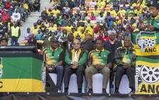 FILE: Gauteng Premier David Makhura, ANC President Jacob Zuma, Gauteng ANC chairperson Paul Mashatile and Deputy President Cyril Ramaphosa dance during the party's Gauteng manifesto launch on 4 June 2016. Picture: Reinart Toerien/EWN.