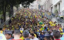 Thousands of Brazil supporters attended the official Fifa Fan Fest in Sao Paulo to watch their team take on Mexico on Tuesday, 17 June.  Picture: Christa Eybers/EWN