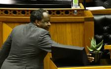 Finance Minister Tito Mboweni in Parliament for his Budget speech on 26 February 2020. Picture: GCIS.