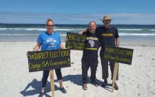 Some Capetonians hit the beaches on Saturday 29 January 2021 to protest the beach ban under the adjusted level 3 lockdown regulations. Picture: @CapeTalk on Twitter