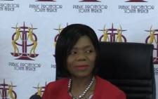 Outgoing Public Protector Thuli Madonsela. Picture: Kgothaso Mogale/EWN.
