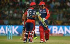 Quinton de Kock with Karun Nair during the Indian Premier League franchise, the Delhi Daredevils, match. Picture: IndianPremierLeague ‏@IPL.