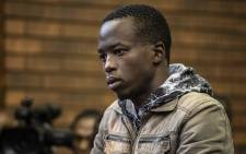 Ernest Mabaso at his second court appearance on 12 November 2018 in the Lenasia Magistrates Court. Mabaso faces charges of murder, rape and theft. Picture: Abigail Javier/EWN