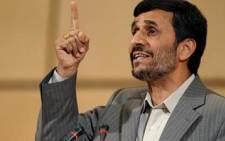 Iran President Mahmoud Ahmadinejad. Picture: AFP