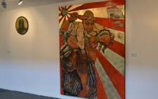 'Umshini Wam' by artist Ayanda Mabulu went on display at the AVA gallery in Cape Town on 27 August 2012. Picture: Aletta Gardner/EWN