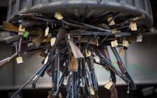 FILE: Confiscated and retired firearms are destroyed by SAPS at SCAW Metal in Germiston. Picture: Thomas Holder/EWN