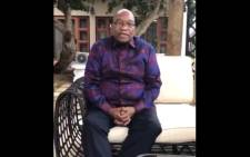 Screengrab of former President Jacob Zuma. Picture: Twitter
