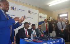 Gauteng Education MEC Panyaza Lesufi updating the media on the sex scandal at Reiger Park High School on 30 January 2018. Picture: Thando Kubheka/EWN