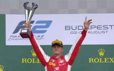 Mick Schumacher, the 20-year-old son of seven-time world champion Michael Schumacher, on Sunday claimed his first Formula Two victory in Hungary. Picture: Twitter/@FIA_F2
