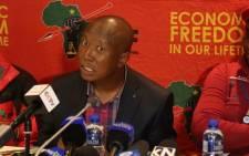 Julius Malema at press briefing on 5 August 2016. Picture: Christa Eybers/EWN