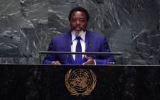 FILE: In this file photo taken on 25 September 2018 Democratic Republic of the Congo President Joseph Kabila Kabange speaks at the General Debate of the 73rd session of the General Assembly at the United Nations in New York. Picture: AFP