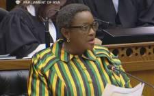 Social Development Minister Bathabile Dlamini. Picture: YouTube screengrab.