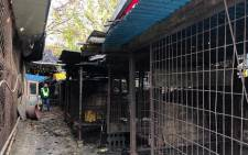 A handout photo was taken and received on 22 November 2018, by US-based animal rights group the Humane Society shows cages at the Taepyeong-dong dog slaughterhouse complex in Seongnam city, south of Seoul. Picture: AFP