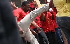FILE: Popcru Members in Johannesburg CBD. Picture: EWN