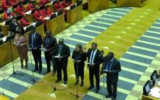 New MPs being sworn in at the National Assembly. Picture: EWN