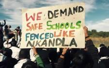 Pupils protest for safer schools. Picture: Equal Education Facebook.