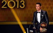Portugal and Real Madrid forward Cristiano Ronaldo was named the world's best footballer for the second time on 13 January 2014. Picture: Facebook.com.