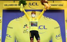 Primoz Roglic retained his lead on compatriot Tadej Pogacar atop the Tour de France standings after stage 18. Picture: Twitter/@LeTour