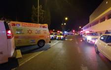 The scene of the early morning attack at Jerusalem's First Station. Picture: MDA Operational Unit/@Mdais/Twitter