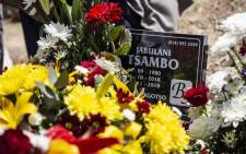 "Jabulani ""HHP"" Tsambo is buried in the Heroes Acre section in the Matlalong cemetery in Mmabatho. Picture: Abigail Javier/EWN."