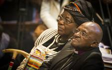 Desmond and Leah Tutu at St George's Cathedral in Cape Town on 2 July 2015. Picture: Aletta Harrison/EWN.
