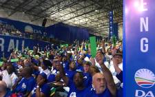 Democratic Alliance members vote on policies on at the party's elective congressSaturday 7 April 2018. Picture: Twitter/@Our_DA