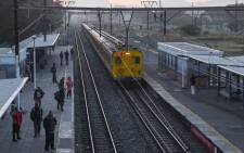 A Metrorail passenger train arrives at a station in Cape Town. Picture: Aletta Harrison/EWN