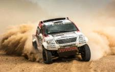 Toyota Hilux in the 2014 Dakar Rally. Picture: Supplied