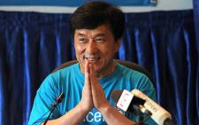 Hong Kong action film star Jackie Chan. Picture: AFP.