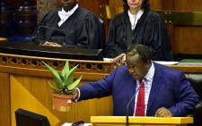 Minister Tito Mboweni presenting his 2019 Budget Speech during the Plenary of the National Assembly. Picture: GCIS.
