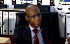 FILE: A screengrab of former Eskom executive Matshela Koko appearing at the state capture inquiry on 1 March 2021. Picture: SABC/YouTube