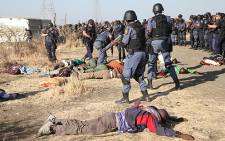 Police open fire at protesting workers at the Lonmin mine in Marikana, North West on 16 August, 2012. Picture: Eyewitness News.