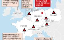 Security measures in European countries in the wake of the Christmas market attack in Germany.