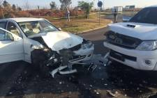 A cash-in-transit van was targeted at OR International Airport Tambo earlier this morning. Picture: @MedixGauteng